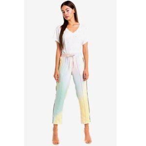 WILDFOX Allegra Pastel Rainbow Jogger Pants sz XS